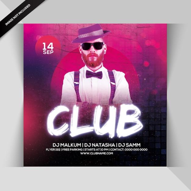 Club feest folder Premium Psd