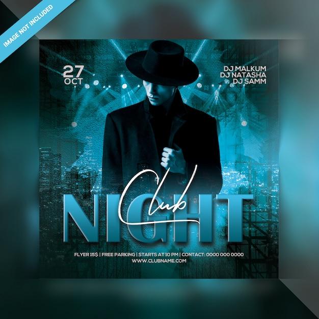 Club nacht feest flyer Premium Psd