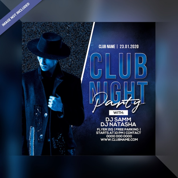 Club nacht partij folder sjabloon Premium Psd