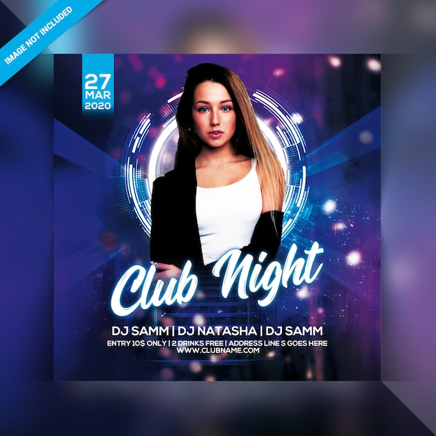 Club night party flyer PSD Premium