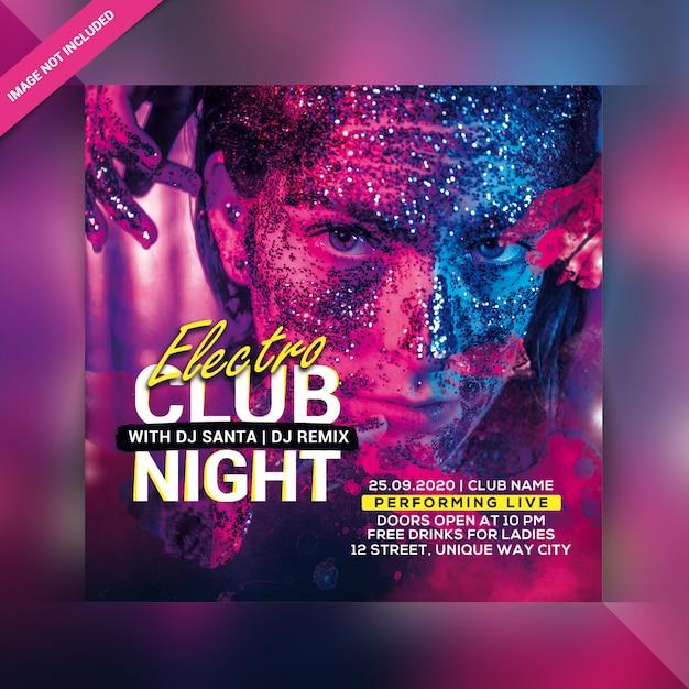 Club night party flyer PSD Premium