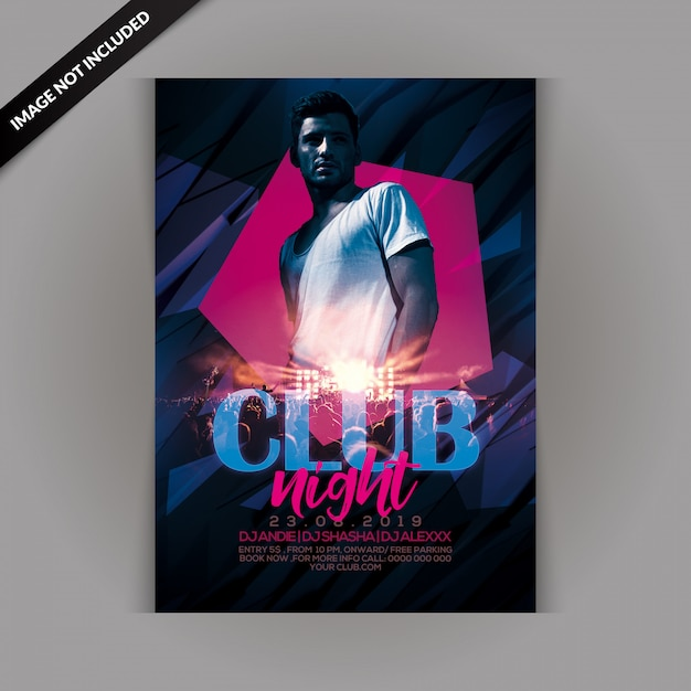 Club night party-flyer Premium Psd