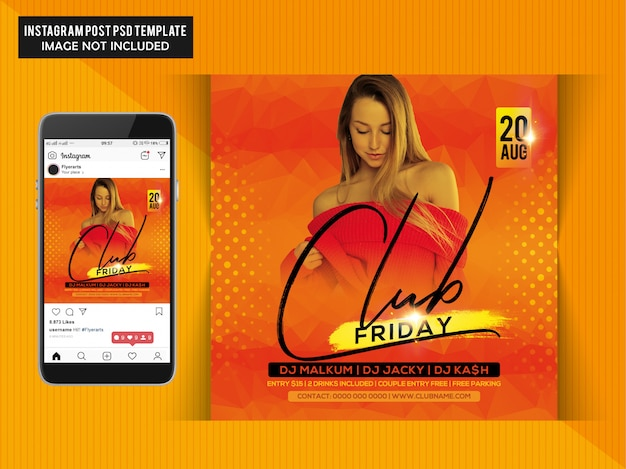 Club night party-flyer Premium Psd