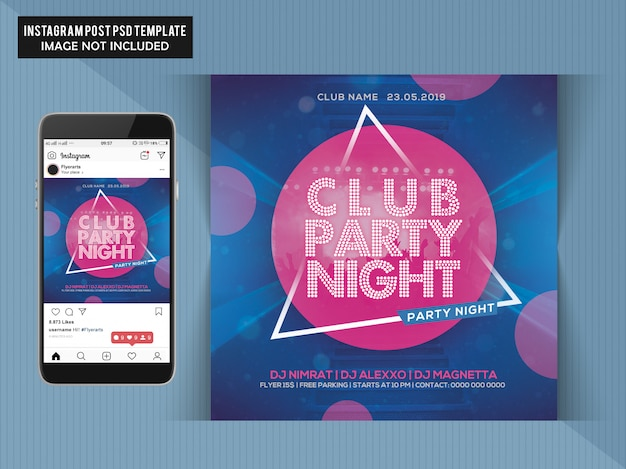 Club party night flyer PSD Premium