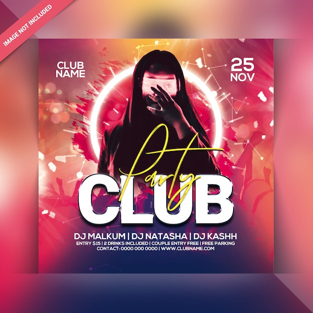 Clubfeest flyer Premium Psd