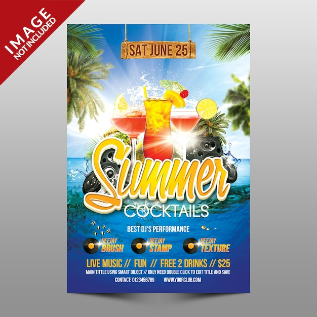 Cócteles de verano PSD Premium