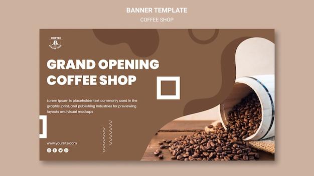 Coffeeshop banner Gratis Psd