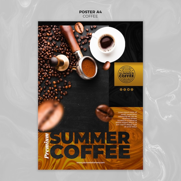 Coffeeshop folder sjabloon Gratis Psd