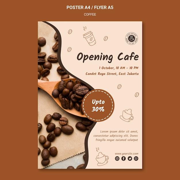 Coffeeshop sjabloon flyer Gratis Psd