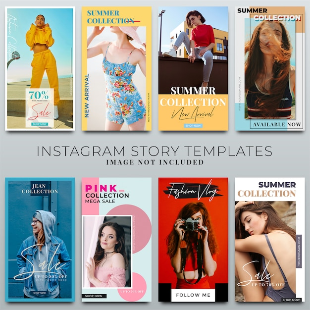 Colección de historias de instagram para la plantilla de redes sociales PSD Premium