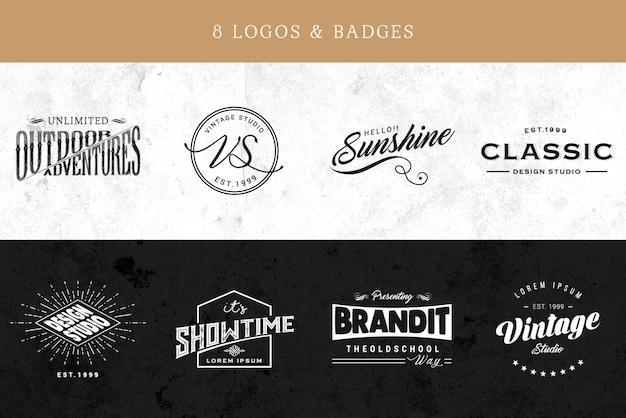 Colección de logos elegantes PSD gratuito