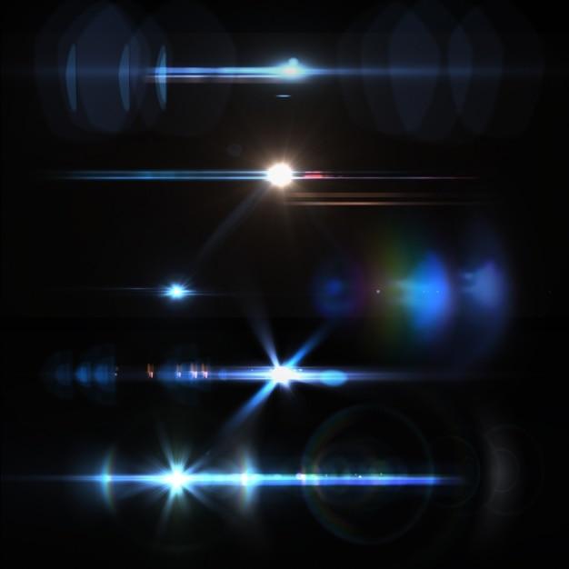 Colección de luces a color PSD gratuito