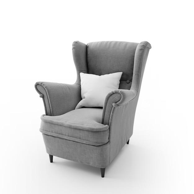 Comfortabele moderne stoel geïsoleerd Gratis Psd