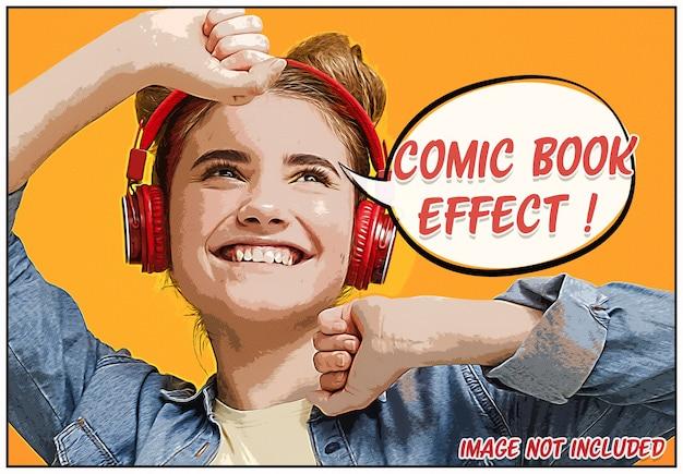 Comic book foto-effect mockup Premium Psd