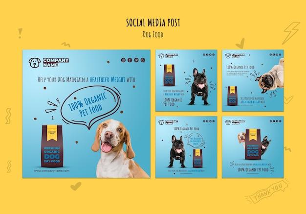 Comida orgánica para mascotas en las redes sociales PSD gratuito