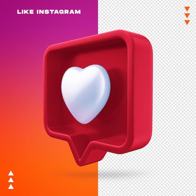 Como instagram aislado PSD Premium