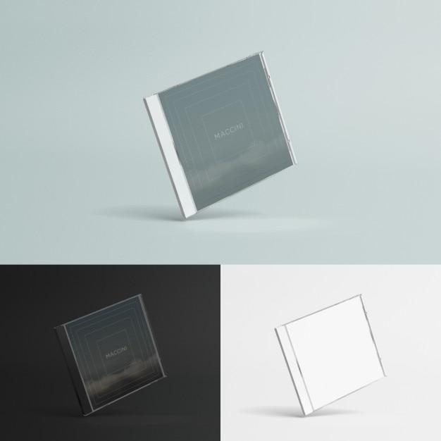 Compact disc case mock up Gratis Psd