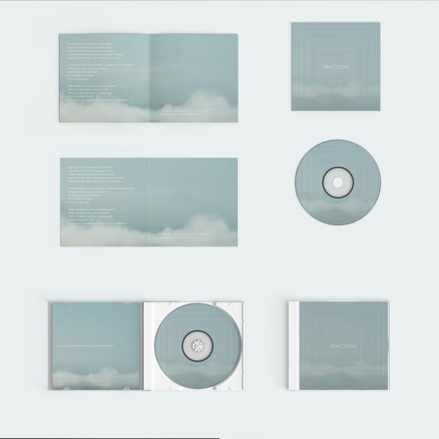 Compact disc deksel mock up Gratis Psd