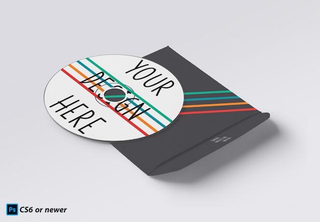Compact disc mock-up Premium Psd