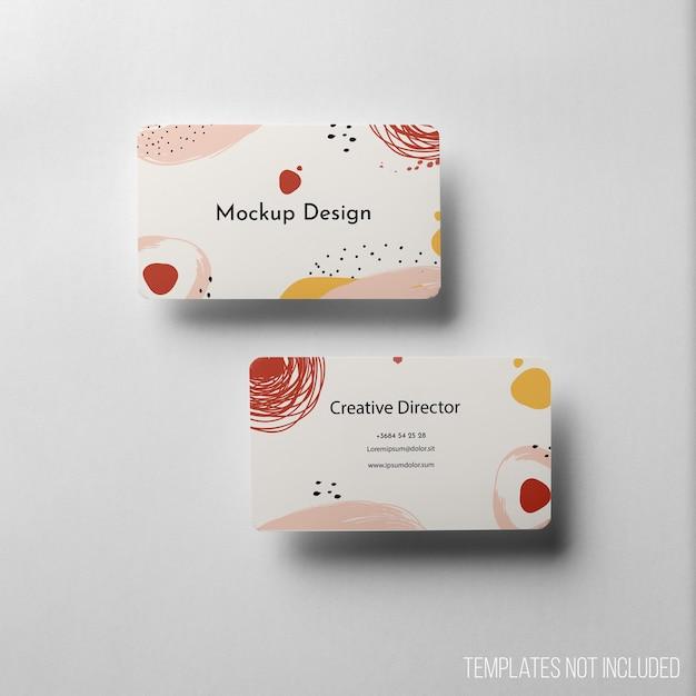 Composición minimalista de maqueta de tarjeta de visita. PSD gratuito