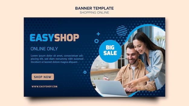 Compras en línea banner tdesign PSD gratuito