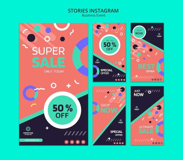 Concept voor zakelijke evenement instagram verhalen Gratis Psd