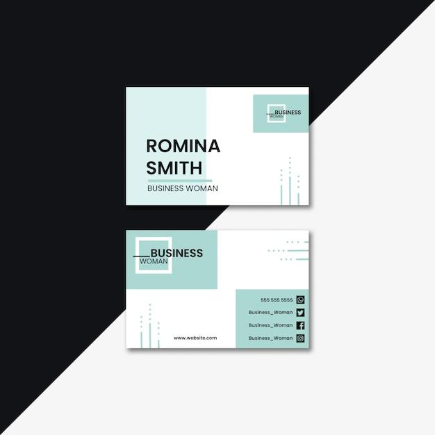 Concepto de mujer de negocios para tarjeta de visita PSD gratuito