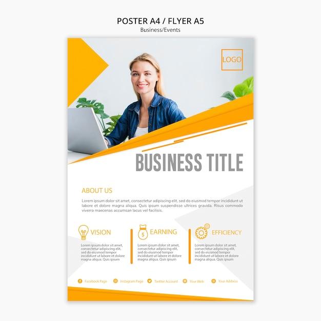 Concepto de plantilla de póster profesional PSD gratuito