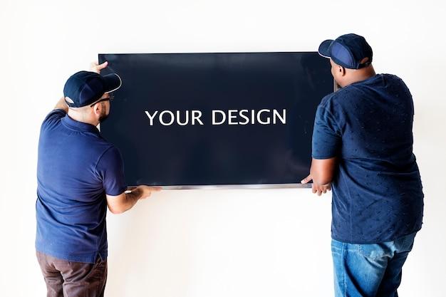 Concepto de servicio de entrega de muebles PSD Premium