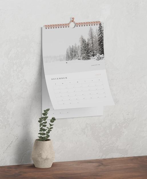 Concetto del calendario come collegamento a spirale del libro Psd Gratuite