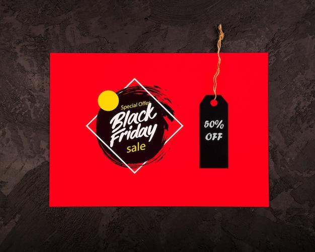 Concetto di black friday con il prezzo da pagare Psd Gratuite