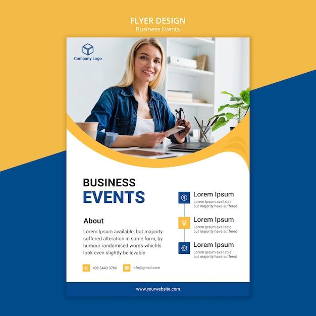Concetto di business flyer per il design Psd Gratuite