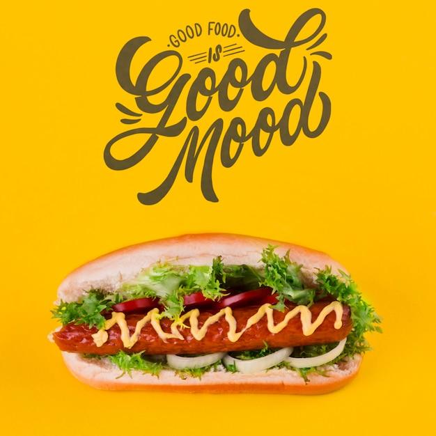 Concetto di fast food con copyspace Psd Gratuite