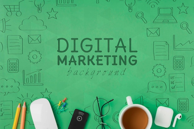 Conexión wifi 5g para maquetas de marketing digital PSD gratuito