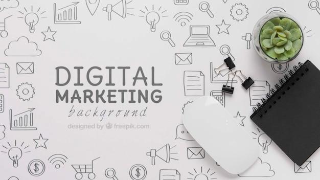 Conexión wifi 5g para marketing digital PSD gratuito
