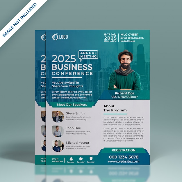 Conference flyer Premium Psd