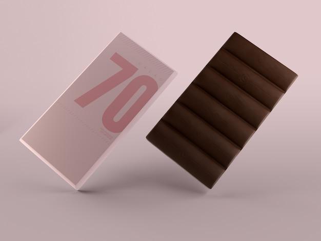 Confezione di carta per il modello di tavoletta di cioccolato Psd Gratuite