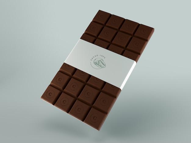 Confezione di carta per tavoletta di cioccolato Psd Gratuite