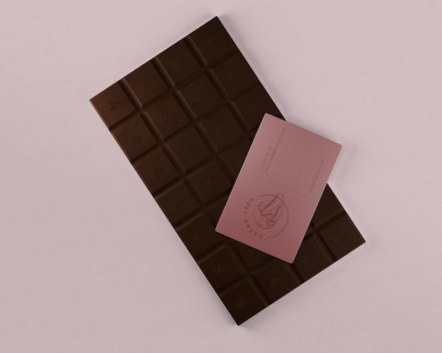 Confezione mock-up di carta e cioccolato Psd Gratuite