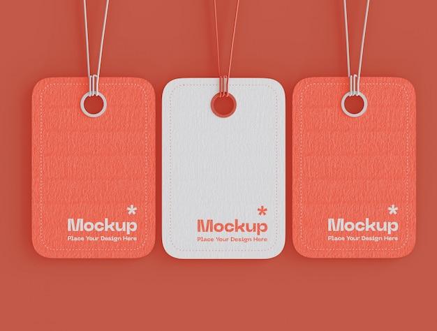 Conjunto de maqueta de etiquetas de precios de etiquetas PSD gratuito