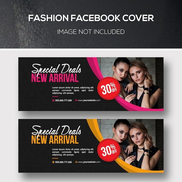 Conjunto de plantillas de portada de facebook de moda PSD Premium