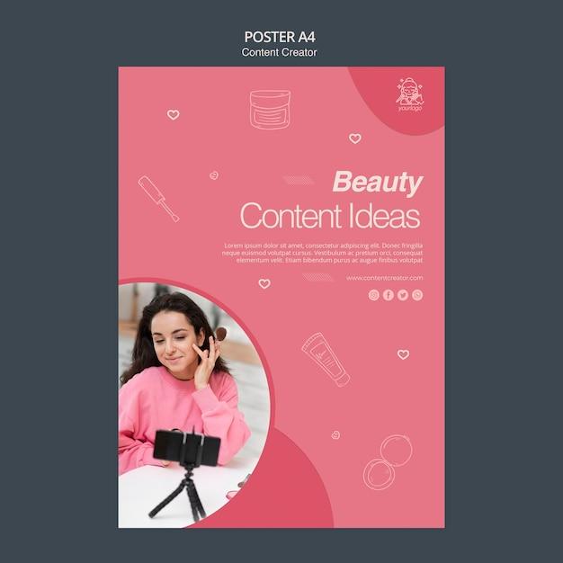 Content schepper poster concept Gratis Psd