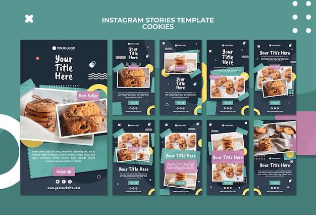 Cookie shop instagram verhalen sjabloon Gratis Psd