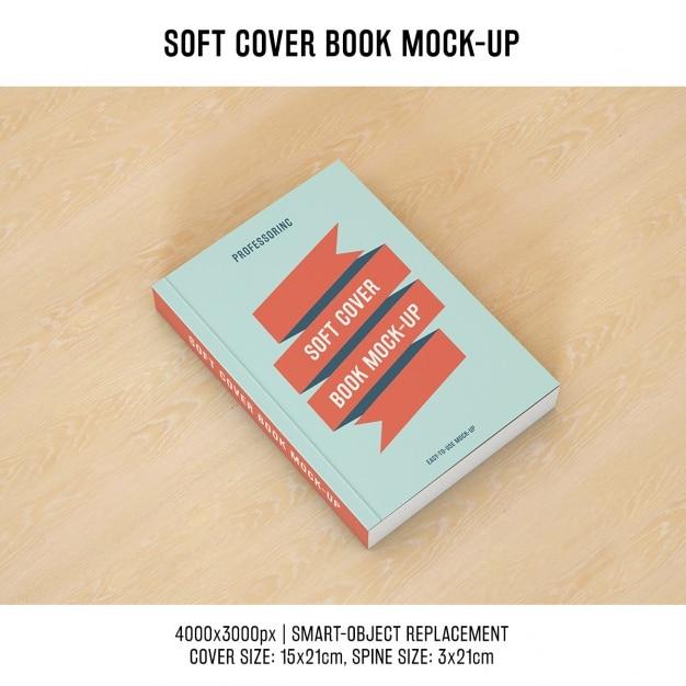 Copertina del libro mock up di progettazione Psd Gratuite