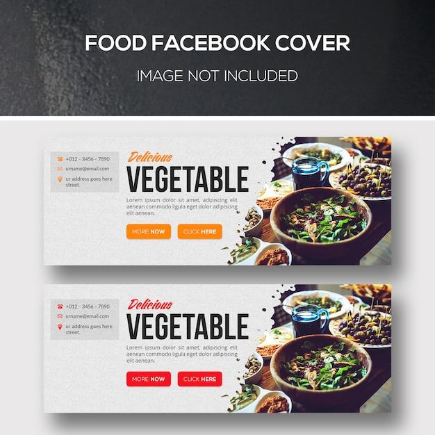 Copertina facebook dell'alimento Psd Premium