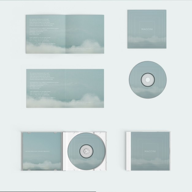 Copertura compact disc mock up Psd Gratuite