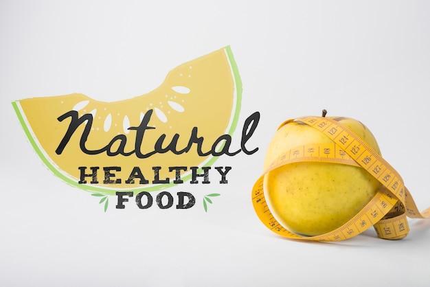 Copyspace-mockup met gezond voedselconcept Gratis Psd