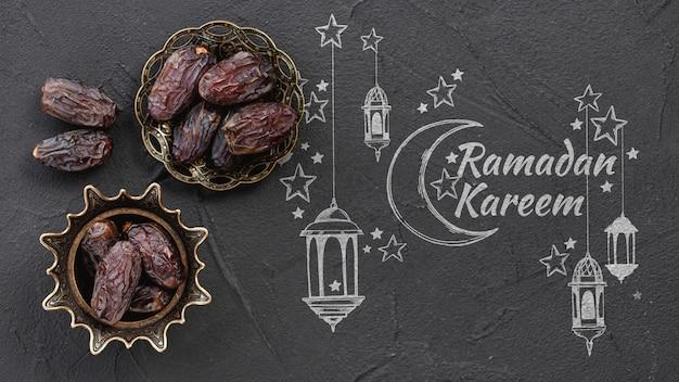 Copyspace-mockup met ramadanconcept Gratis Psd