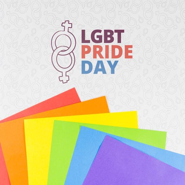 Copyspace mockup per il giorno dell'orgoglio Psd Gratuite