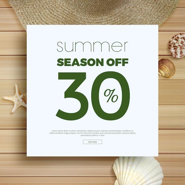 Cornice di vendita estiva e sfondo Psd Premium